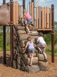 Kids enjoying themselves on a playground. America ensures that the population will be safe to live freely, and will have tranquility