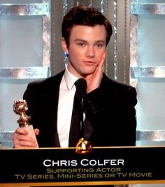 The overwhelming feeling of pride, admiration and total deserveness I had during this moment. ♡ chriscolfer always.