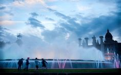 """""""36 Hours in Barcelona, Spain"""" By INGRID K. WILLIAMS  Published: May 3, 2012 for the NY Times    Montjuïc Magic Fountain features music and colors at night. Photo by by Lourdes Segade for The New York Times"""
