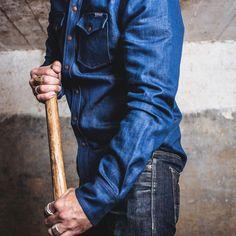 Shirt, Casual retro western denim long sleeve overalls shirt Sleeve Styles, Westerns, Overalls, Denim, Retro, Long Sleeve, Casual, Sleeves, Shirts
