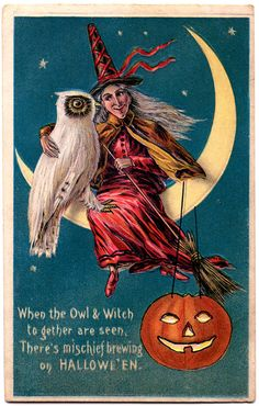 When the Owl & WItch together are seen, there's mischief brewing on Halloween!