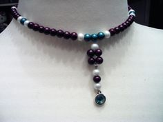 Perlenkette Beaded Necklace, Jewelry, Fashion, Glass Beads, String Of Pearls, Beaded Collar, Moda, Jewlery, Pearl Necklace