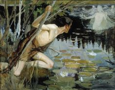 Study for the Youth and a Mermaid by Albert Edelfelt. 1896