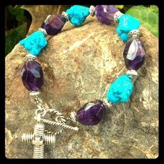 Royce ware turquoise and amethyst Bracelet