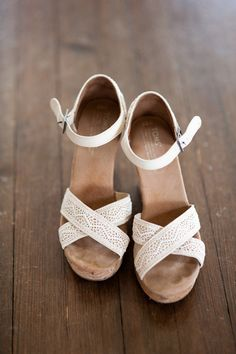 LOVE! Wedding #wedges by @toms {Rachael Foster Photography}