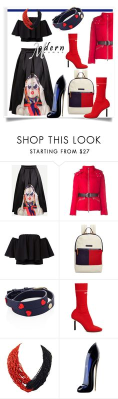 """Perfect Puffer Jackets"" by kari-c ❤ liked on Polyvore featuring Tommy Hilfiger, Tory Burch, Vetements, Patricia von Musulin, Carolina Herrera and puffers"