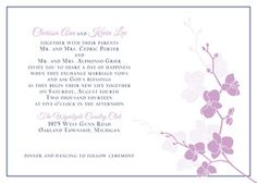 Romantic Orchid design from The Plume Collection ready-to-order wedding/event invitations.