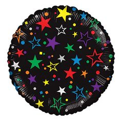 Solid black balloon is decorated with colorful and festive confetti to help you celebrate every occasion