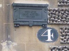 Here lived Jane Austen. #4 Sydney Place, Bath