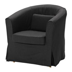 the chair is in need of some lovin' EKTORP TULLSTA Chair cover - Idemo black - IKEA