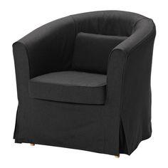 IKEA - EKTORP TULLSTA, Sessel, Idemo schwarz, , Ein Extrabezug gibt dem Möbelstück und damit dem Raum im Nu ein neues Aussehen.Dank der großen Auswahl an abgestimmten Bezügen lassen sich Polstermöbel ganz einfach öfter neu gestalten.Zierliches Möbelstück - passt in jeden Raum.