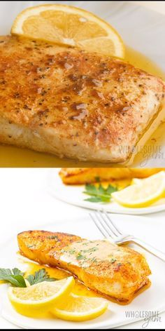 This pan seared halibut recipe with lemon butter sauce takes just 20 minutes. which you'd never guess with how fancy pan fried halibut looks. I'll show you how to pan sear halibut, plus how to make the perfect sauce for halibut. Fish Dinner, Seafood Dinner, Fish Ideas For Dinner, Ideas For Dinner Tonight, Pan Seared Halibut Recipes, Halibut Baked, Baked Salmon Recipes, Chicken Recipes, Fish Fillet Recipes
