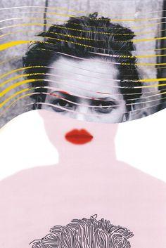 Collage illustration of gender troubled Kate