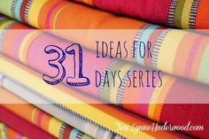 31 ideas for a #write31days series