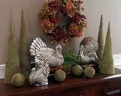 Thanksgiving, Silver Turkeys.