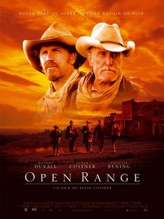 Open Range , starring Kevin Costner, Robert Duvall, Diego Luna, Abraham Benrubi. A former gunslinger is forced to take up arms again when he and his cattle crew are threatened by a corrupt lawman. #Action #Romance #Western
