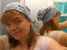 Looming Exclusive Designs: Sea Foam Slouchy hat