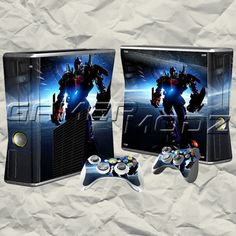 Transformers XBOX 360 Skin Set - Console with 2 Controllers