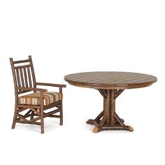 Rustic Dining Table #3520, Rustic Chair #1200 by La Lune Collection