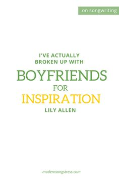 Lily Allen Quote Musician Quotes, Lily Allen, Music Industry, Breakup, Insight, Boyfriend, Singer, Breaking Up, Singers