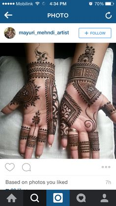 Easy Mehndi Designs For Front Hands For Kids - mehandi - Hand Henna Designs Full Mehndi Designs, Legs Mehndi Design, Henna Art Designs, Mehndi Designs For Girls, Mehndi Designs For Beginners, Mehndi Design Photos, Dulhan Mehndi Designs, Bridal Mehndi Designs, Mehndi Designs For Hands