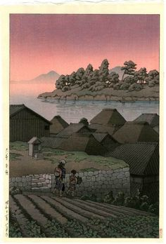 HASUI Japanese Woodblock Print Island View at Amakusa 1937 | eBay
