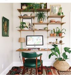 3 Inspiring Home Office Decor for Creative People # Decoration Decor, Wall Unit, Mid Century Desk, Interior Design, House Interior, Desk Wall Unit, Interior Inspiration, Interior, Home Decor
