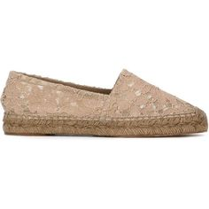 Dolce & Gabbana Floral Lace Espadrilles featuring polyvore, women's fashion, shoes, sandals, nude shoes, lace-up sandals, almond toe shoes, floral shoes and lace-up espadrilles