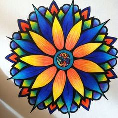 Mandalas colores Mandala Doodle, Mandala Art Lesson, Mandala Drawing, Mandala Painting, Dot Painting, Mandala Design, Wilson Art, Hippie Art, Wow Art