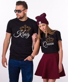 King and Queen Tropical Shirts, Crowns, Matching Couples Shirts Matching Couple Outfits, Matching Couples, Matching Shirts, Mrs Shirt, King Shirt, Disney Inspired Fashion, Disney Fashion, Inspired Outfits, Honeymoon Outfits
