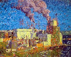 Impression of the Irving pulp mill in west Saint John, NB.