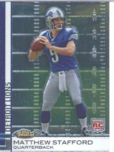 2009 Topps Finest Football Rookie Card #100 Matthew Stafford Detroit Lions Shipped In Protective ScrewDown Display Case! by Topps. $16.95. 2009 Topps Finest Football Rookie Card #100 Matthew Stafford Detroit Lions Shipped In Protective ScrewDown Display Case!