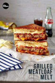 Plus, the only leftover meatloaf sandwich recipe you'll ever need, too. Grilled Meatloaf, Meatloaf Sandwich, Grilled Sandwich, Meatloaf Recipes, Sandwich Recipes, Turkey Meatloaf, Lunch Recipes, Meat Recipes, Healthy Recipes