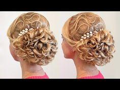 Свадебная причёска - Мастер-класс - YouTube