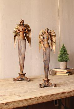 Gorgeous Gothic Style Iron Angel Cherub Wall Sculpture Decor,15.5/'/'H.