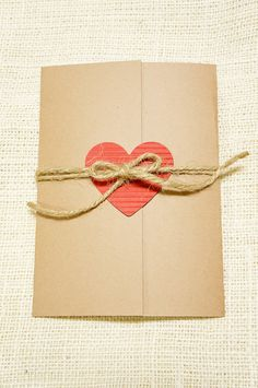 Rustic Wedding Invitation - Heart and Twine - Perfect for Rustic Weddings...I could make this with our colors!