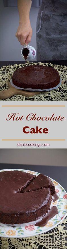 The easiest eggless hot chocolate cake