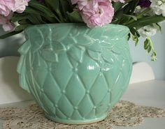 Vintage Nelson Mccoy Pottery 5 3 4 Whte Dragonfly Planter 400 x 300