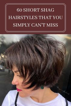 Hair and Beauty Add some height to your short shag; tease the crown section and have a little poof w Short Hair With Layers, Layered Hair, Short Hair Cuts, Layered Bobs, Short Shag Hairstyles, Best Short Haircuts, Pixie Haircuts, Braided Hairstyles, Wedding Hairstyles