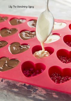 I had SO much fun creating these heart chocolates. I made them in several varieties, and I am going to tell you how each one turned out! I ...