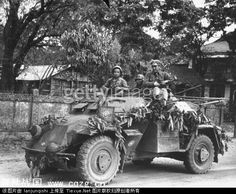 Chinese troops in German reconnaissance armoured car. The Leichter Panzerspähwagen. arsenals were built or upgraded to manufacture other weapons and ordnance, such as the MG-34, pack guns of different calibers, and even replacement parts for vehicles of the Leichter Panzerspähwagen series serving in the Chinese army. Several research institutes were also established under German auspices.