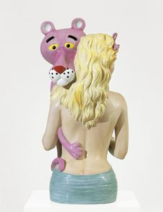 Jeff Koons, Pink Panther, 1988. Porcelain, 104.1 x 52.1 x 48.3 cm, Courtesy The Brant Foundation, Greenwich, Connecticut © Jeff Koons. Photo: © TASCHEN GmbH / Schaub/Höffner, Cologne (On view at the Beyeler Foundation)