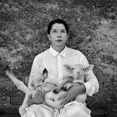 Marina Abramovic - With white lamb, 2010 - Contemporary sacred art Son Of The Morning, Marina Abramovic, Cancer Rising, Face Expressions, Creative Skills, Sacred Art, Drawing Reference, Installation Art, Witches