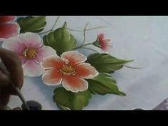 Pintando flores e folhas com Sorayacarneiro-artes