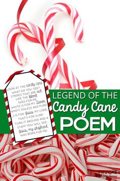 The Legend of the Candy Cane Poem - Free Printable Gift Tag for Christmas. Use as a gift for Sunday School church witnessing Awana and more. Candy Cane Poem, Candy Cane Story, Candy Cane Crafts, Candy Cane Ornament, Candy Canes, Christmas Poems, Christmas Candy, Christmas Stockings, Christmas Crafts