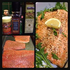 Pioneer Woman's easy bake method for salmon. Drizzle filets with olive oil and season with salt and pepper. Place in a cold oven and set to 400 degrees and bake for 25 minutes uncovered. So moist and delicious.