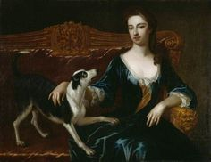 Elizabeth Grey  (later Countess of Portsmouth)  by Michael Dahl I  (attributed to)