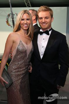 Formula 1 World Champion Nico Rosberg and wife Vivian,FIA prize giving ceremony