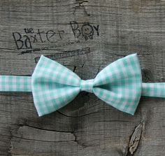Mint green gingham little boy bow tie  photo prop by TheBaxterBoy, $12.00....parker
