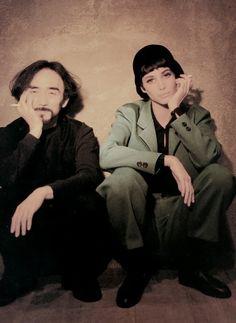Yohji + Christy in Vogue Italia, November 1990. Photo: Patrick Demarchelier.
